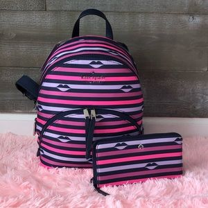 Kate Spade multicolored backpack & matching wallet